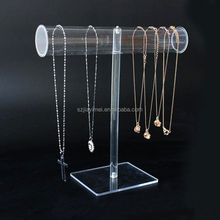 Factory quality clear acrylic fashion jewelry display for necklace and bracelet