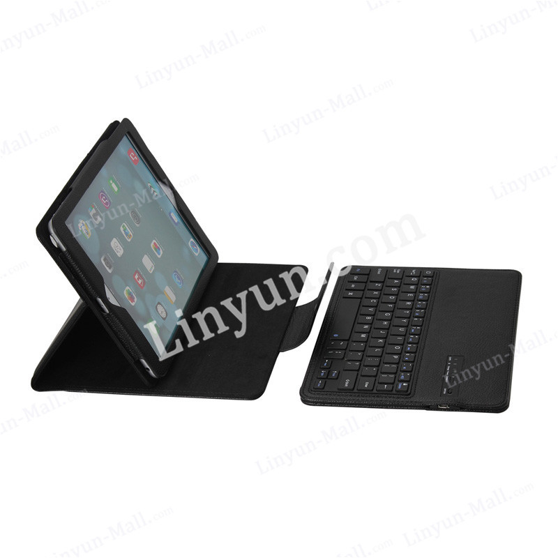 for iPad Air 2 detachable bluetooth keyboard leather case