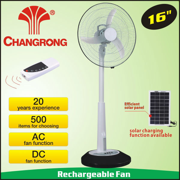 rechargeable standing emergency standard electric fan with light battery