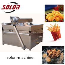 Top quality continuous industrial small potato chips making machine / kfc chicken frying machine