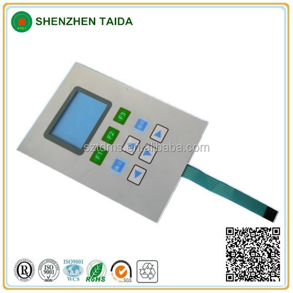 embossed membrane control switch panel for industrial machine