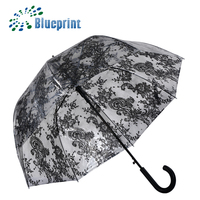 Hot selling clear dome shape manual open POE material umbrella
