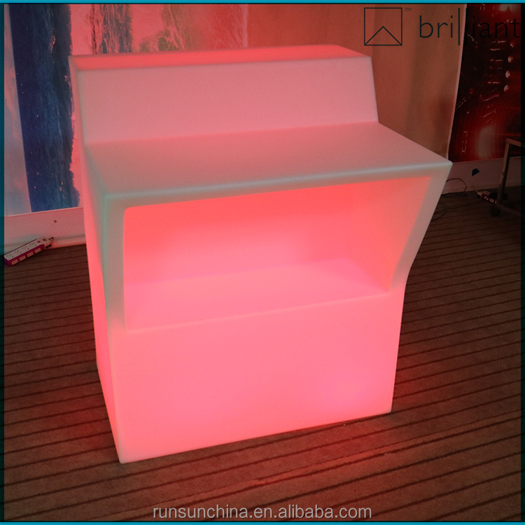 308# hot sale LED Bar Furniture illuminated LED middle straight bar counter design