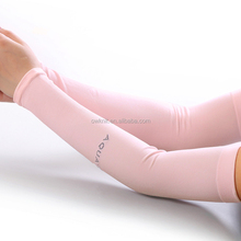 Blank Pink Arm Sleeve Playing Basketball Spandex Sports Sun Protective Custom Arm Sleeves