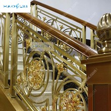Luxury Customized size galvanized metal balustrades handrails for indoor stair