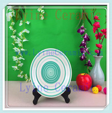 2016 new style delicate china oriental ceramic plates for art