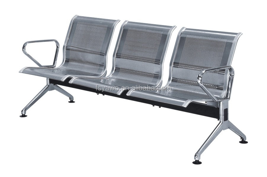 Modern used airport waiting room chair metal indoor bench