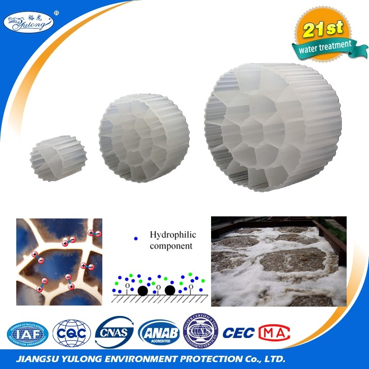 100% virgin HDPE mbbr biofilm carrier bio filter medias for used fish pond