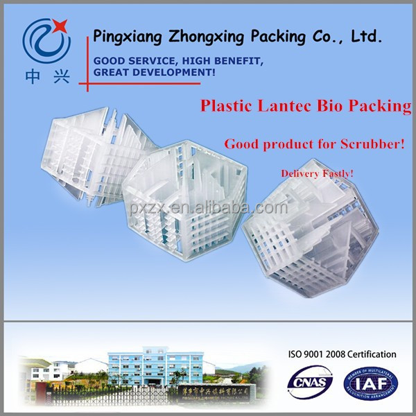 Plastic Lantec Bio Packing for Scrubber , Stripping tower