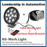 High Intensity 120W Round LED Work Light For Automobiles Accessories With Lifetime Warranty