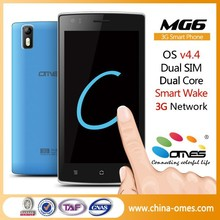 New arrival MG6 5.0 inch dual core i9577 mtk6577 android phone