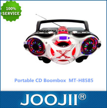 High Quality CD/MP3 CD Boombox with USB/SD/AM/FM/Bluetooth/Disco Light