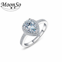 MOONSO Free sample Fashion Jewelry 925 Sterling Silver factory price latest pearl ring design walmart jewelry ring AR603S