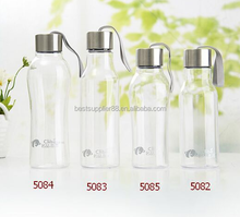 Promotion Bowling Shape Transparent Customized color High Quality Water Bottle, Portable Glass Drinking Bottle Sport Products