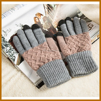 winter cotton neon color gloves for kids