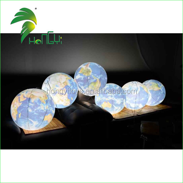 Inflatable led Balloon , Inflatable Light Planet , Lighted Earth
