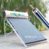 Aluminium alloy frame thermal resistor solar water heaters with heat pipe tubes