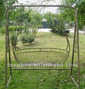 Top-selling modern garden wrought iron swing