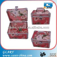 Transparent acrylic make up beauty vanity cases