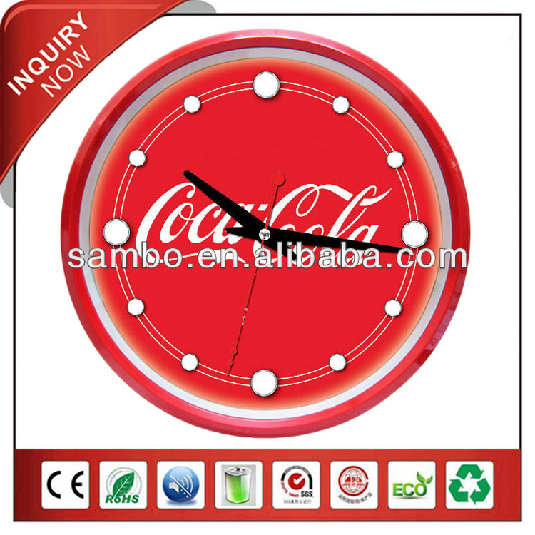 Red Business Coca Clock