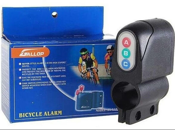 Bicycle alarm, ABC password bike alarm,bicycle Code Lock alarm