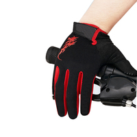 Top quality Full Finger Racing Bike Riding Gloves with touch screen fingertip