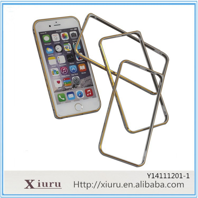 New design Custom Metal Case Aluminum Metal Frame Case Protective Cover for Iphone 5 6