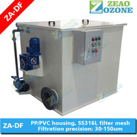 Swimming pool drum filter, alternative of sand filter