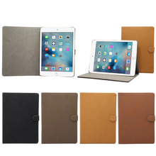 For ipad stand leather cover cases, Retro matte leather protective cover for ipad 9.7