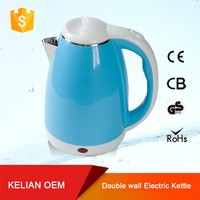 Chinese most popular hand protection double walls plastic electric kettle 1500W