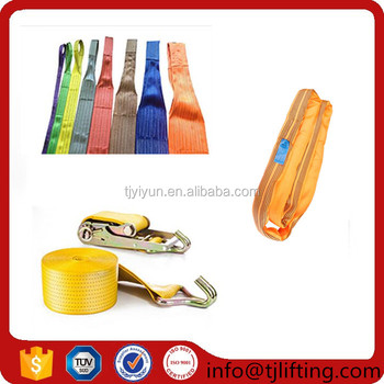 Fall arrest system/high tenacity polyester webbing