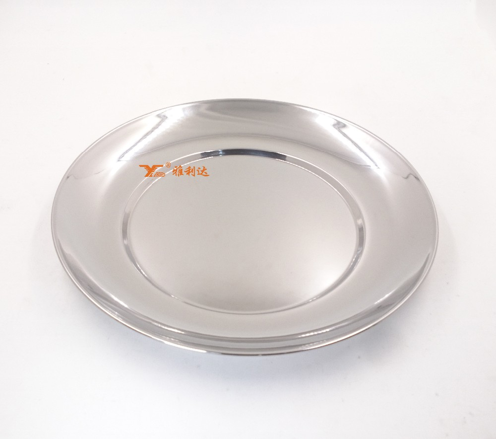 silver plate charger wholesale metal dinner plate stainless steel food plate