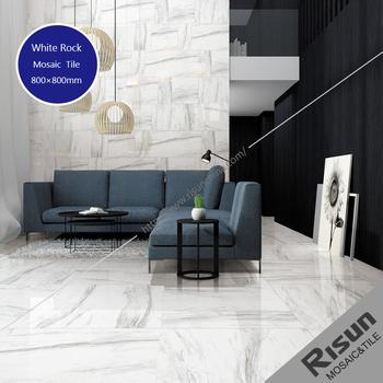 Glossy Plain White Marble Carrara Porcelain Glazed Non Slip Ceramic
