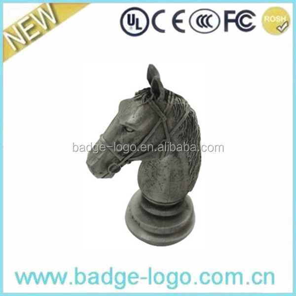 Die Cast Metal Horse Head Crafts in Zinc Alloy