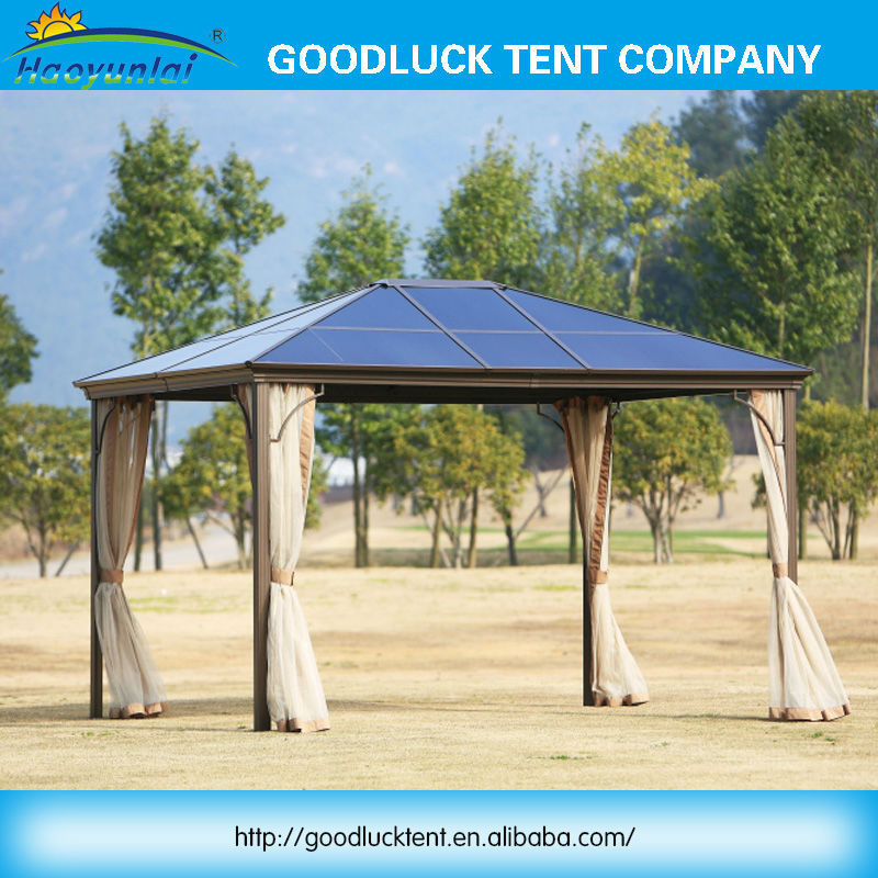 China Manufacturer outdoor garden patio wrought iron gazebo luxury pavilion gazebo