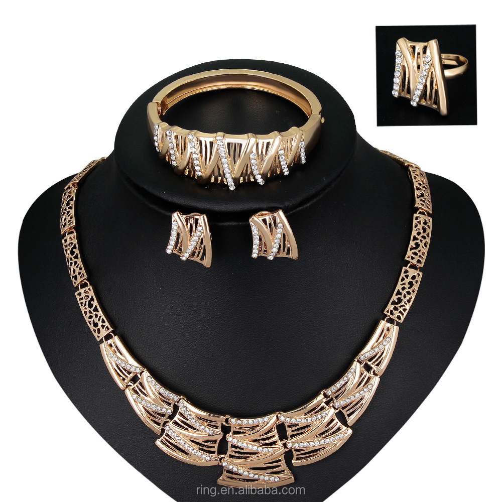 Fashion Vintage jewelry sets African women beads bridal wedding dubai Statement Necklace Earring set