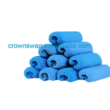 Beautiful blue shoes cover pe film shoe cover Medical disposable cpe shoe cover/cpe overshoes