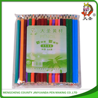 High quality Round/hexagonal Promotional art colored lead pencils