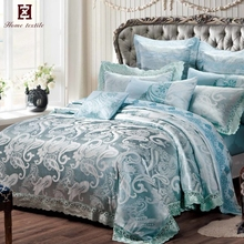 spanish style bedding quilted bed cover jacquard polyester set of bed home goods duvet covers