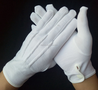 supply work funeral liner ceremony white nylon glove