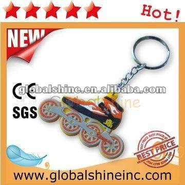 high quality artificial food pvc keychain