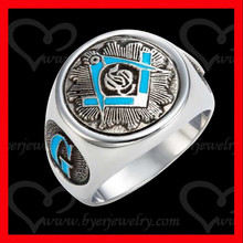 wholesale men's masonic ring stainless steel jewelry