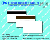Blank magnetic stripe card