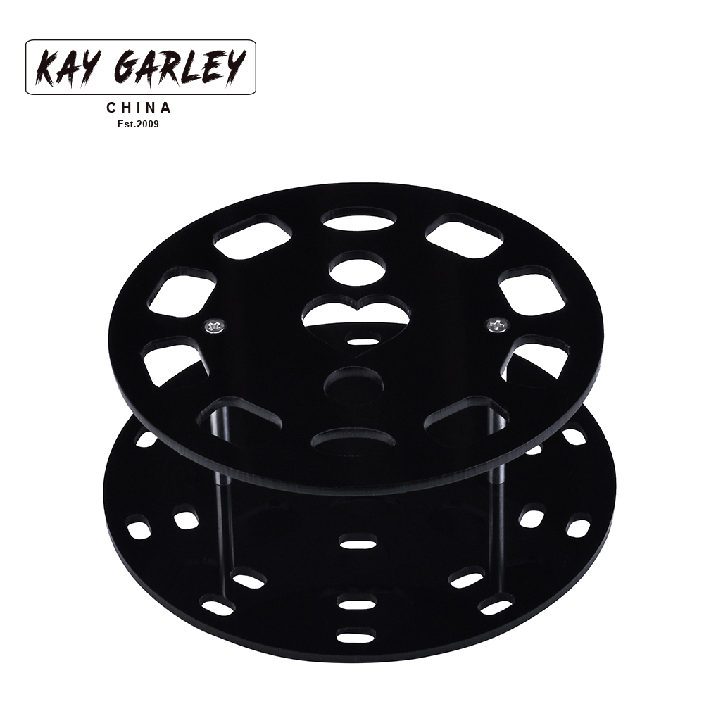 KAY GARLEY Top Selling Good Quality Round 10 Holes Acrylic Stand For Oval Makeup Brush Makeup Brush Organizer