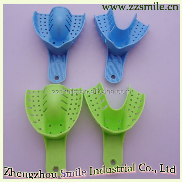 Hot sale Disposable Dental Perforated Plastic Impression Trays