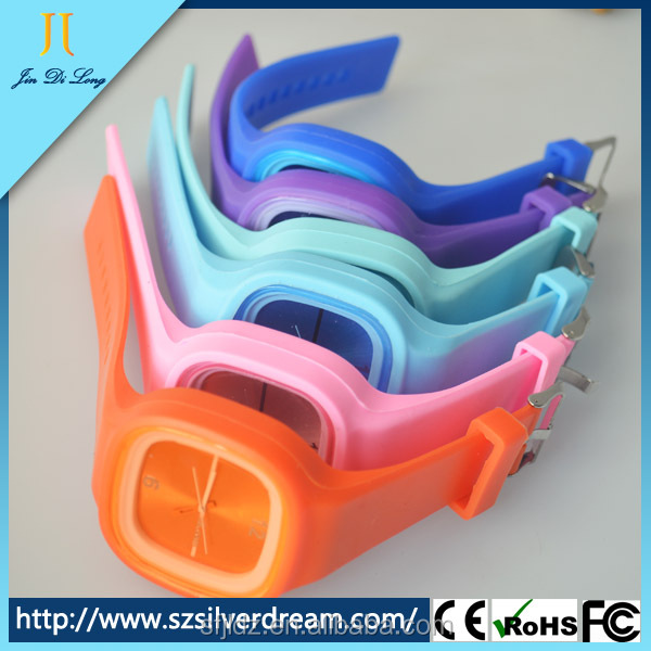 Customized Promotional Quartz Silicone Watch Jelly Watch