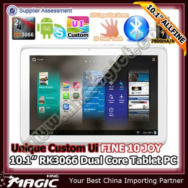 New tablet 10.1 inch Rockchip RK3066 Dual core