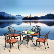 Cast Aluminum Patio Furniture Classical Outdoor Dining Set Metal Furniture