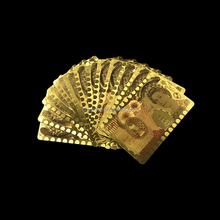 Wholesale customized pound 50 currency gold playing card