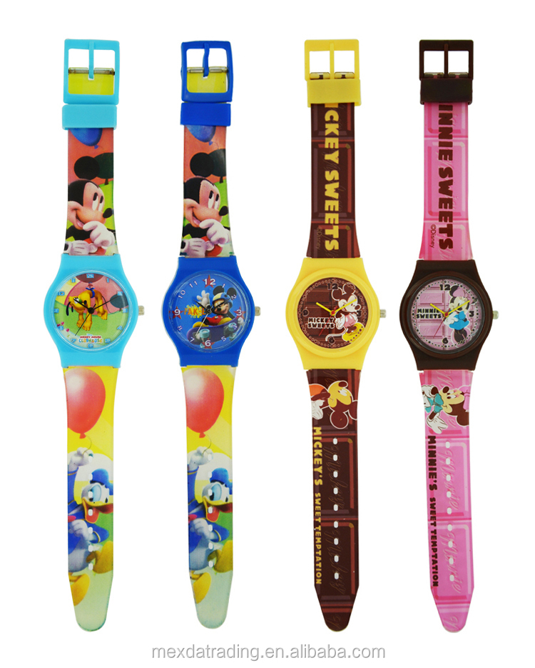 Good quality waterproof silicone kids cartoon wrist watch